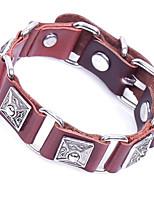 Homme Bracelet Bracelet Chaîne Rétro Pierre Cuir Forme de Cercle Forme Géométrique Bijoux Pour Décontracté Soirée
