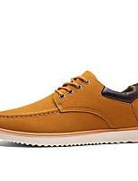 Men's Shoes PU All Season Comfort Light Soles Oxfords For Casual Khaki Blue Black