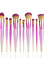 12 pcs Makeup Brush Set Pony Synthetic Hair Professional Soft Resin Blush