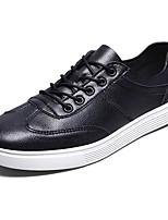 Недорогие -Для мужчин обувь Искусственное волокно Дерматин Полиуретан Весна Осень Удобная обувь Кеды Назначение Повседневные Черный Коричневый Хаки