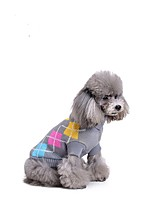 Cat Dog Sweater Dog Clothes Stylish Polka Dot Gray Costume For Pets