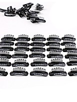 Neitsi 50Pcs U Shape Mental Snap Clip with Rubber Silicone for DIY Clip-ins Hair Weaves Extensions