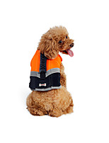 cheap -Dog Life Vest Dog Clothes Casual/Sporty Solid Green Orange