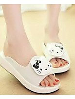 Women's Shoes PU Spring Fall Comfort Slippers & Flip-Flops For Casual Red Black White