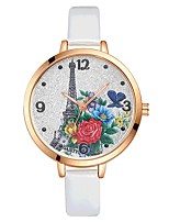 Women's Wrist watch Chinese Quartz Large Dial PU Band Sparkle Elegant Colorful Black White Blue Red Brown Pink Purple Rose Sky Blue
