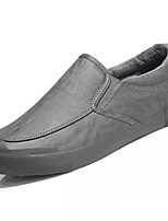 Men's Shoes PU Leatherette Winter Comfort Loafers & Slip-Ons For Casual Brown Gray Black