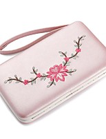 Women Bags PU Wallet Embroidery for Event/Party Shopping All Season Blushing Pink Beige Purple Brown Sky Blue