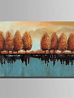 Dipinta a mano Astratto Orizzontale,Astratto 1pc Tela Hang-Dipinto ad olio For Decorazioni per la casa