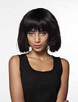 cheap -Women Human Hair Capless Wigs Beige Blonde//Bleach Blonde Medium Auburn Black Medium Length Water Wave