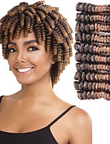 cheap -Kanekalon 8inch 20strands/pcs Crochet Hair Extensions Crochet Braids Kenzie Curl Synthetic Braiding Hair 6pcs