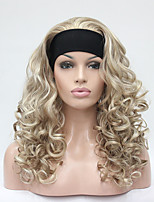 Women Synthetic Wig Capless Long Curly Blonde Partial/Half Wigs Natural Wigs Costume Wig