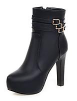 economico -Da donna Scarpe Finta pelle Inverno Stivali Stivaletti alla caviglia Stivaletti Punta tonda Stivali metà polpaccio Fibbia Per Casual