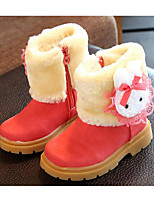 cheap -Girls' Shoes Suede Spring Fall Comfort Snow Boots Boots For Casual Pink Red Brown