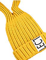 economico -Berretto di lana Sci Caps Skull Bambini Unisex Caldo Tavola da snowboard Acrilico Tinta unita Lettere & Numeri Corsa Escursionismo