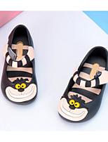 Недорогие -Девочки обувь Кожа ПВХ  Весна Осень Удобная обувь Армейские ботинки Сандалии Для прогулок Животные принты для Повседневные Черный Синий