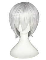 cheap -14inch Short Silver White Tokyo Ghoul Wigs Kaneki Ken Synthetic Anime Hair Cosplay Wigs CS-195A