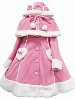 cheap -Winter Sweet Lolita Cape Coat Princess Wool Women's Girls' Adults' Coat Cosplay Pink Black White Long Sleeves