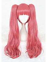 26inch Long Curly Pink Urahara Mari Shirako Wig Synthetic Anime Hair Cosplay Wig2Ponytails CS-347A