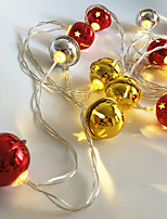 1pc 20 LEDs LED String Light Bell Shape Gold & Silver Color(No Red Color) 3*AA Battery Powered Without Battery
