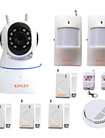 KONLEN® WIFI Anti theft Burglar Intruder Home Alarm System Wireless Video Surveillance Security IP Camera Push Alert Message Smoke Alarm