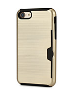 abordables -Funda Para Apple iPhone 7 Plus iPhone 7 Soporte de Coche Funda de Cuerpo Entero Color sólido Dura TPU para iPhone X iPhone 8 Plus iPhone