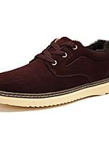 Недорогие -Для мужчин обувь Замша Весна Осень Удобная обувь Кеды для Повседневные Желтый Темно-русый Темно-коричневый