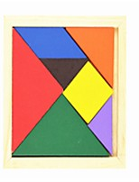 cheap -Tangram Wooden Puzzles Toys Geometric Family School/Graduation School Classic Kids Pieces