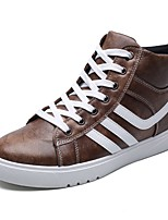 cheap -Men's Shoes Leatherette Spring Fall Fashion Boots Sneakers Booties/Ankle Boots For Casual Brown Gray Black