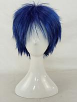 hairjoy Homme Perruque Synthétique Court Bouclé Noir / bleu. Coupe Dégradée Perruque de Cosplay Perruque de fête Perruque Déguisement