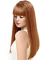 cheap -Women Human Hair Capless Wigs Beige Blonde//Bleach Blonde Medium Auburn Natural Black Long Kinky Straight Natural Hairline