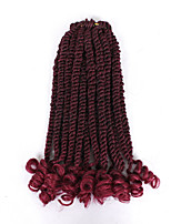 cheap -Pre-looped Senegalese Twist Bouncy Curly End 12inch Thick Crochet Twist Braided Hair Heat Resistant Fiber 20strands Senegal Braiding 6pc One Head