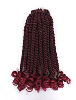 """economico -Trecce Crochet pre-ciclo 1pc / pack Trecce di capelli Riccio Riccio stile senegalese 12"""" Nuovo arrivo Treccine afro Capelli sintetici"""