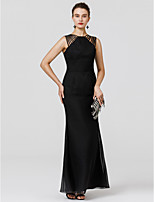 Sheath / Column Straped Floor Length Chiffon Formal Evening Dress with Sash / Ribbon Pleats by TS Couture®