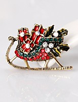 Men's Women's Brooches Rhinestone Simple Basic Rhinestone Alloy Geometric Jewelry For Christmas