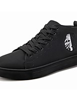 cheap -Men's Shoes Synthetic Microfiber PU Spring Fall Comfort Sneakers For Casual Black