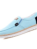 Men's Shoes PU Fabric Spring Fall Comfort Loafers & Slip-Ons For Casual Light Blue Black/Red Gray