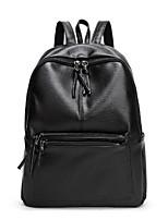 cheap -Women Bags PU Backpack Zipper for Casual All Season Black