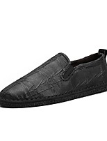 Men's Shoes PU Spring Fall Comfort Loafers & Slip-Ons For Casual Black