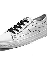 Недорогие -Для мужчин обувь Полиуретан Весна Осень Удобная обувь Кеды Назначение Белый Черный Красный