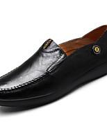 Для мужчин обувь Полиуретан Весна Осень Удобная обувь Мокасины и Свитер Назначение Повседневные Черный Коричневый Темно-русый
