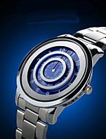 Муж. Жен. Модные часы Кварцевый Защита от влаги Нержавеющая сталь Группа На каждый день Cool Серебристый металл
