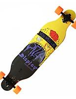 41 pouces Planches à roulettes complètes Artificiel Décontracté / Quotidien Des sports Cuir PU/Cuir polyuréthane 4-Noir Orange Jaune