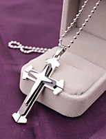 Men's Women's Pendant Necklaces Cross Stainless Steel Fashion Cross Jewelry For Daily Casual