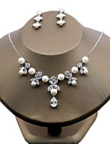 Women's Cubic Zirconia Floral Zircon Earrings Necklace For Wedding Party Wedding Gifts