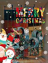 preiswerte -Art Deco Weihnachten Fenster-Aufkleber Stoff Fensterdekoration