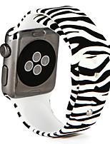 Недорогие -Ремешок для часов для Apple Watch Series 3 / 2 / 1 Apple Повязка на запястье Спортивный ремешок силиконовый