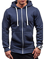 Men's Plus Size Daily Plus Size Casual Hoodie Solid Micro-elastic Cotton Acrylic Polyester Long Sleeves