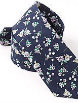 cheap -Men's Cotton Neck Tie,Casual Floral/Botanical All Seasons