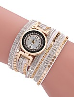 Femme Montre Décontractée Bracelet de Montre Montre Diamant Simulation Chinois Quartz Imitation de diamant Polyuréthane Bande Rétro