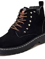 preiswerte -Damen Schuhe PU Winter Komfort Modische Stiefel Springerstiefel Stiefel Runde Zehe Booties / Stiefeletten Für Normal Schwarz Grün